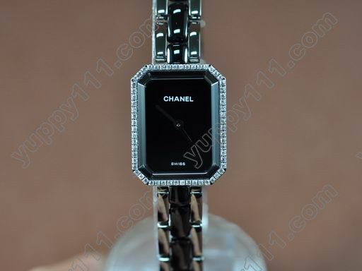 シャネルChanel Ladies Premiere Black SS/Ceramic/Diamonds Jap Qtz/Boxクオーツ