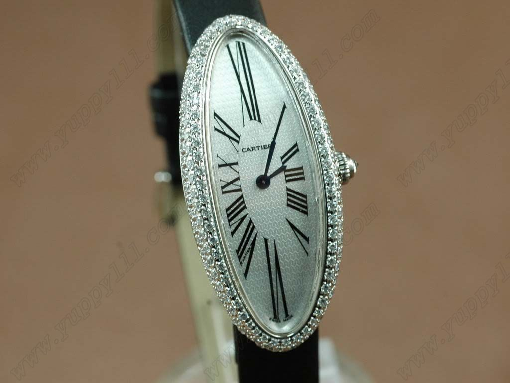 カルティエCartier Ladies WG Diamonds Baignoireクオーツ