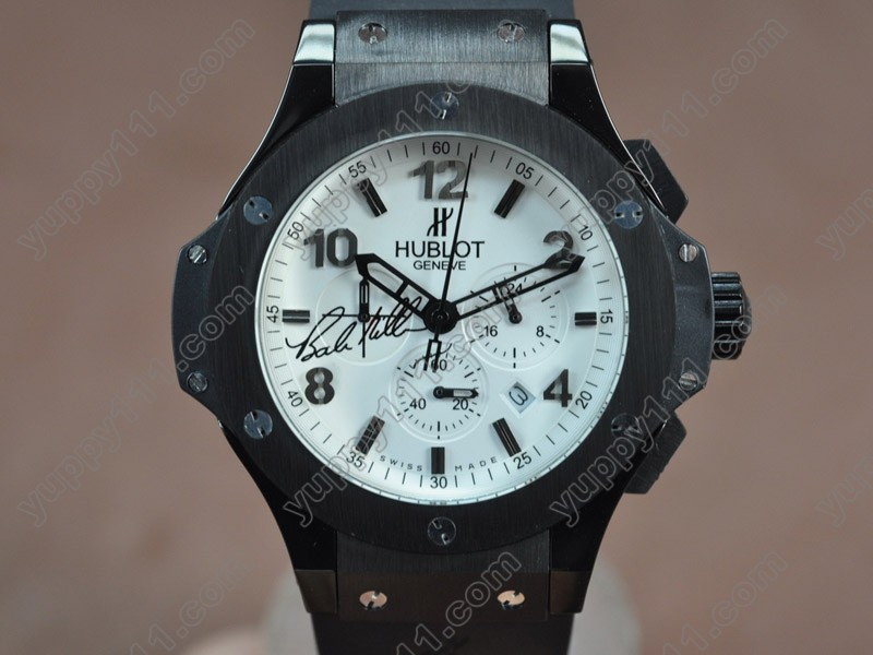 ウブロHublot Big Bang 44mm PVD/RU White Japanese 0S20 Quartz Chronoクオーツストップウォッチ