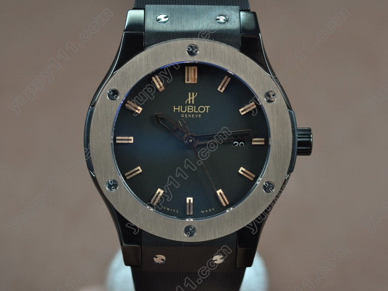 ウブロHublot Big Bang 45mm PVD/RG/RU Black dial Asia Eta 2824-2 Auto自動巻き