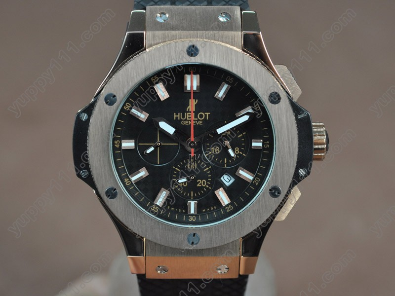 ウブロHublot Big Bang 44mm RG/RU Black Japanese 0S20 Quartz Chronoクオーツストップウォッチ