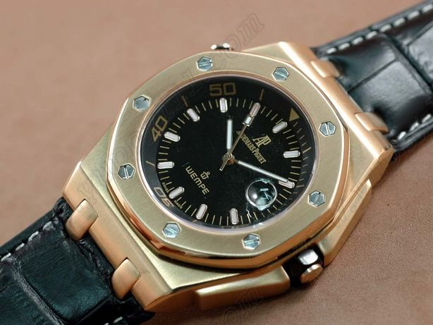 オーデマピゲAudemars Piguet Wempe Limited Ed Royal Oak RG Black Swiss Eta 2836-2自動巻