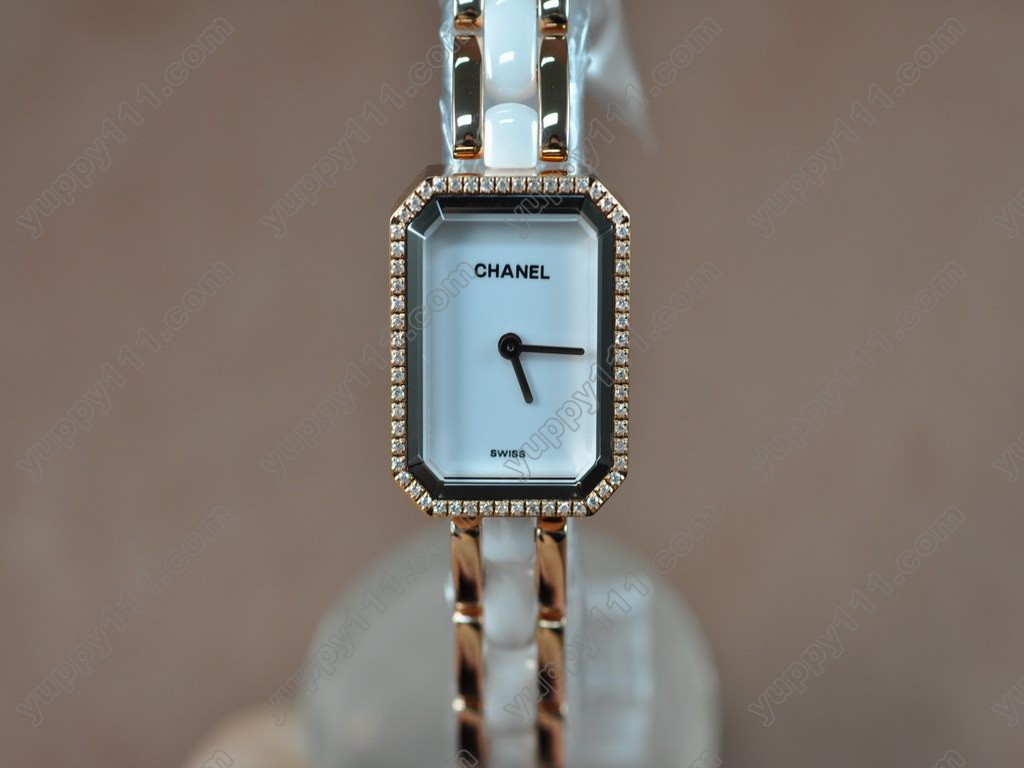 シャネルChanel Ladies Premiere White RG/Ceramic/Diamonds Jap Qtz/Boxクオーツ