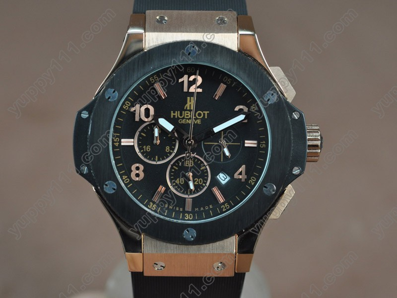 ウブロHublot Big Bang 44mm RG/PVD/RU Black Japanese 0S20 Quartz Chronoクオーツストップウォッチ