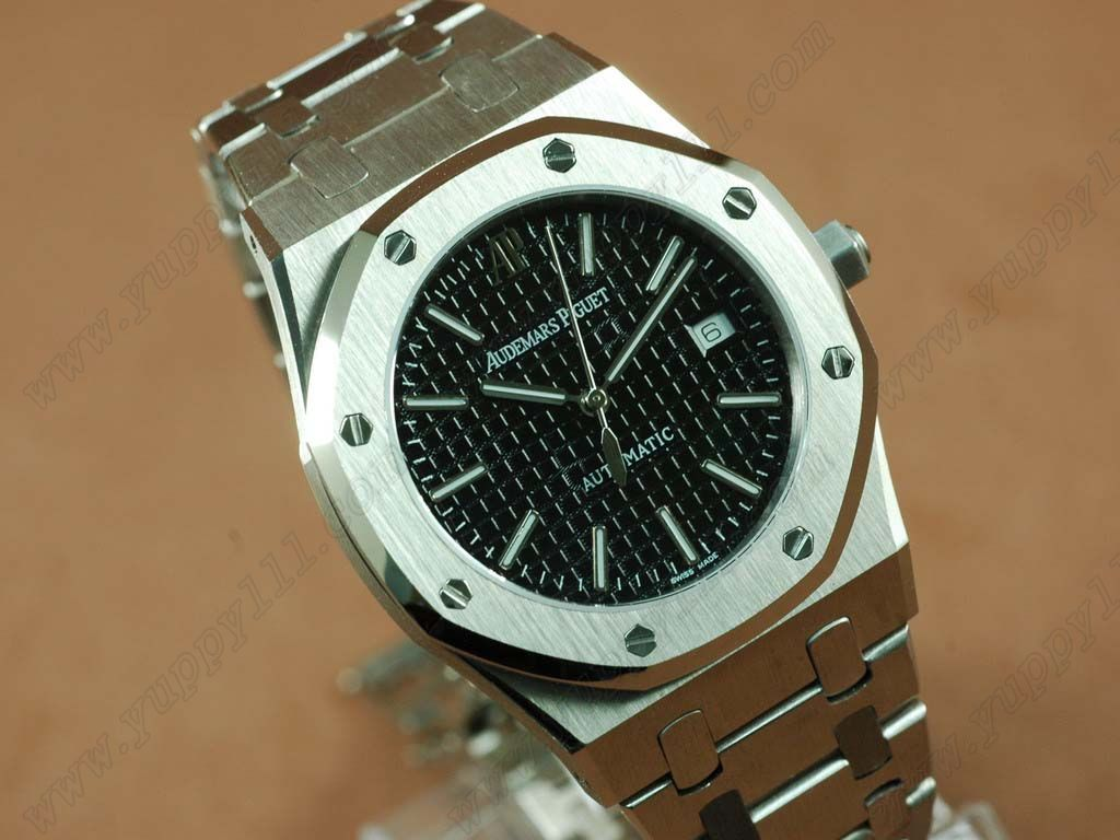 オーデマ・ピゲAudemars Piguet Royal Oak Jumbo 39mm SS/SS Black Swiss Eta 2824-2自動巻き