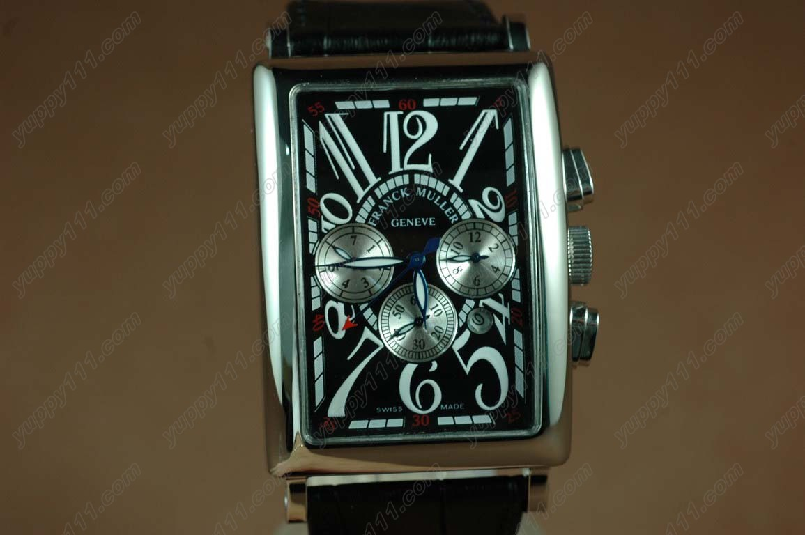 フランクミュラー Franck Muller Watches Long Island SS Case Black Dial Black Strap