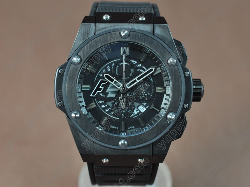 ウブロHublot King Power F1 48mm PVD Black Japanese 0S20 Quartzクォーツストップウォッチ