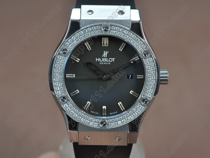 ウブロHublot Big Bang 45mm SS/Dam/RU Black Asia Eta 2824-2 Auto自動巻き