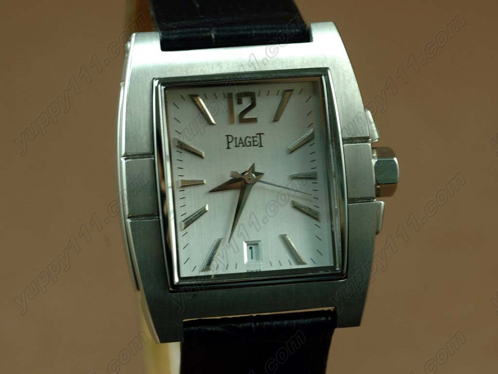 ピアジェPiaget Upstream SS Case Black Strap Swiss Eta 2824自動巻き