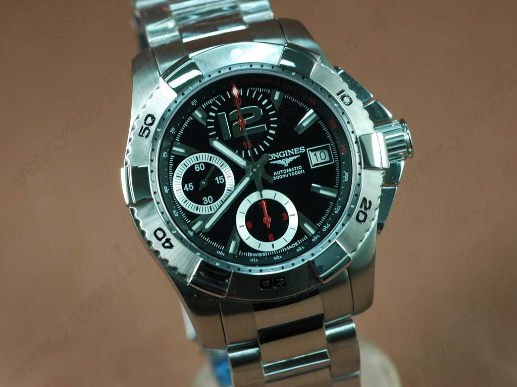 ロンジンLongines Hydroconquest V SS/SS Black A-7750自動巻き