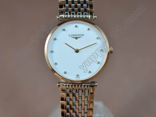 ロンジンLongines Man La Grande Classique TT White Japanクオーツ
