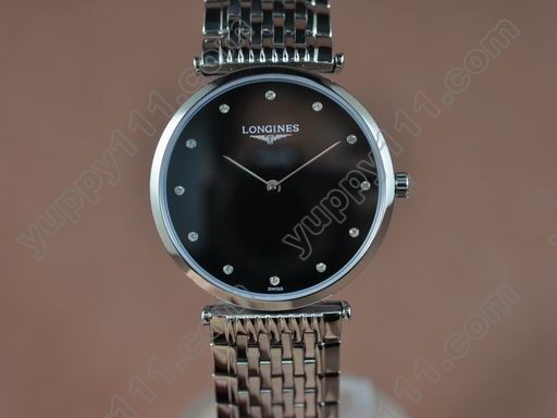 ロンジンLongines Man La Grande Classique SS/SS Black Japanクオーツ