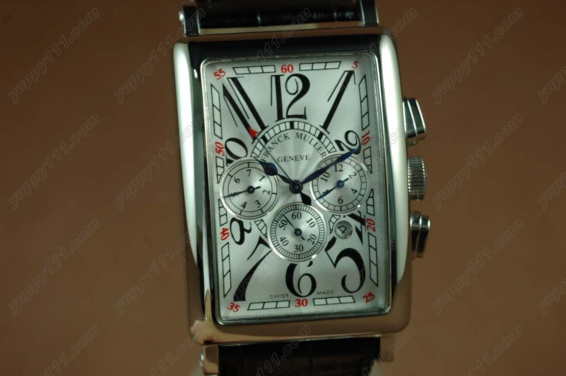 フランクミュラー Franck Muller Watches Long Island SS Case White Dial Black Strap