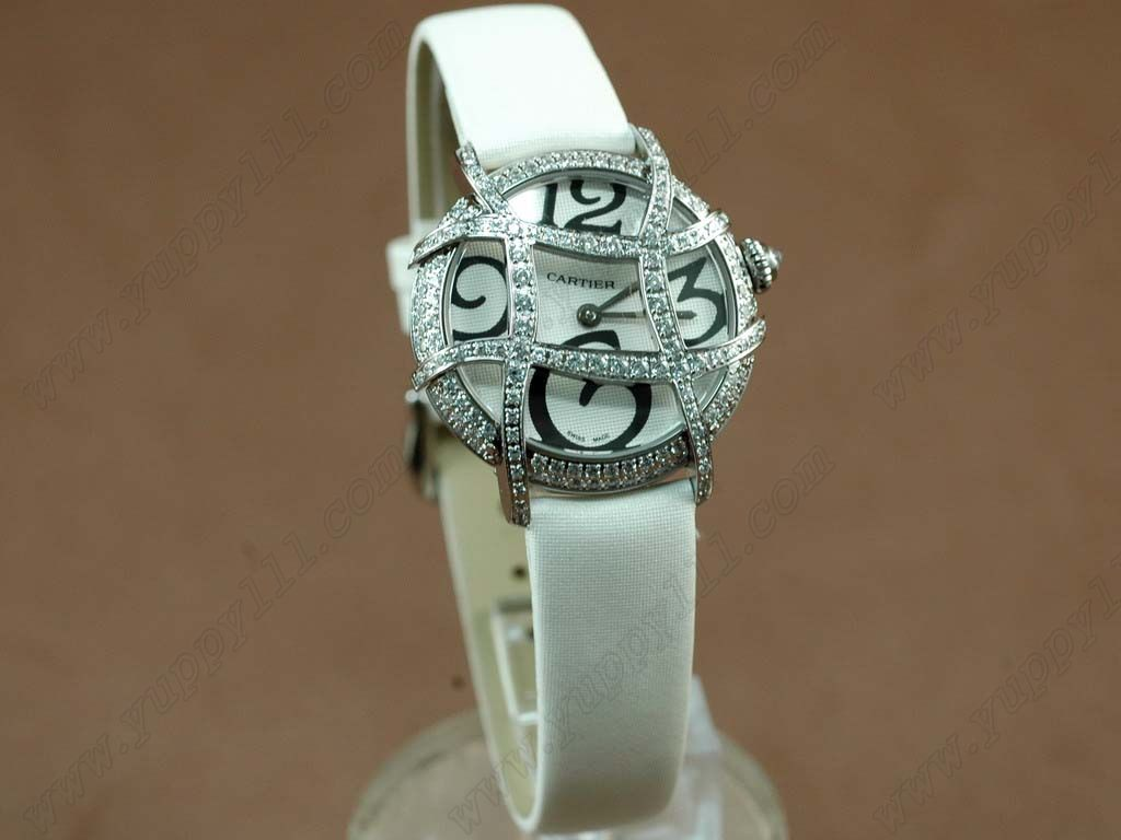 カルティエCartier Libre Ronde Folle Ladies SS White Swiss Quartz/Boxseクオーツ