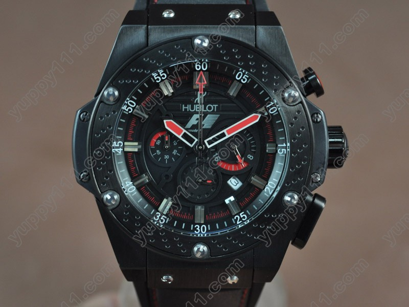 ウブロHublot King Power F1 48mm PVD Black Japanese 0S20 Quartz Chronoクオーツストップウォッチ