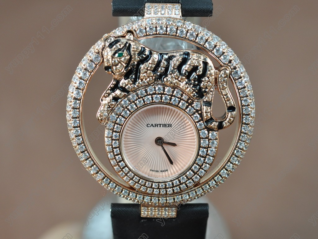 カルティエCartier Le Cirque Animalier Tiger RG/LE/Dia Swiss Quartzクオーツ