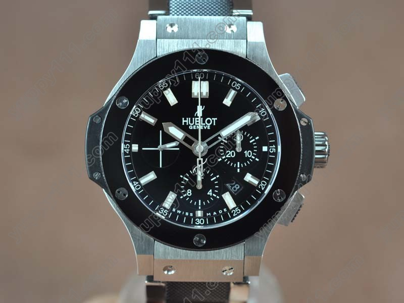 ウブロHublot Big Bang SS Ceramic Bez Black dial A-7750自動巻き