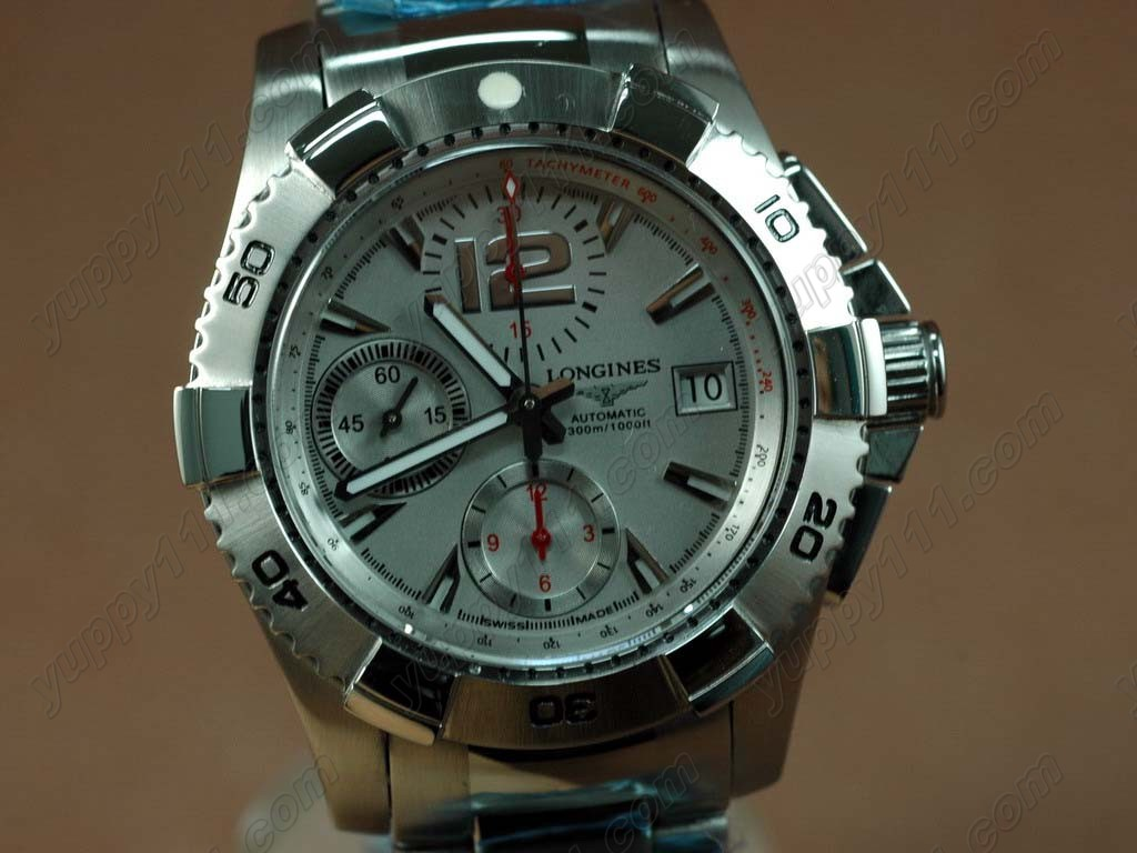 ロンジンLongines Hydroconquest V SS/SS Grey A-7750自動巻き
