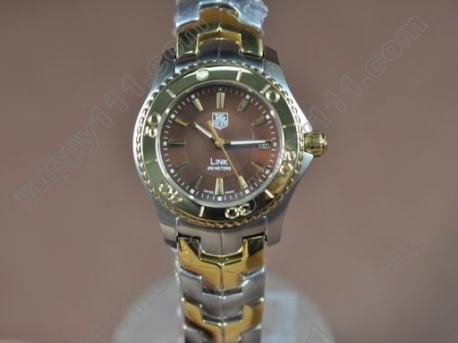 タグホイヤーTag Heuer Link Sports Ladies TT/TT Brown Stk S-Qtzクオーツ腕時計