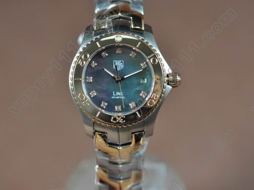 タグホイヤーTag Heuer Link Sports Ladies TT/RG MOP D-Blue Stick S-Qtzクオーツ腕時計