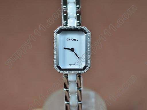 シャネルChanel Ladies Premiere White SS/Ceramic/Diamonds Jap Qtz/Boxクオーツ