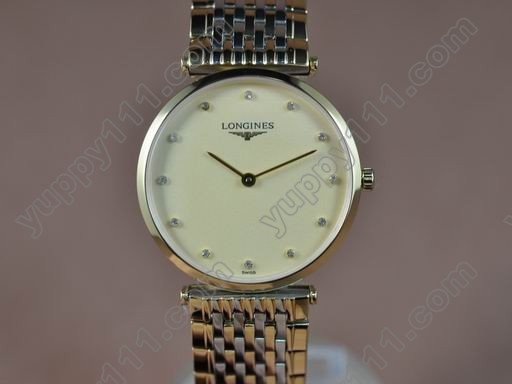 ロンジンLongines Man La Grande Classique TT Gold Dial Japanクオーツ