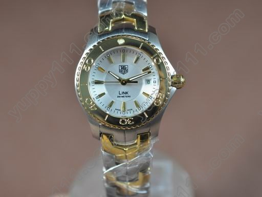 タグホイヤーTag Heuer Link Sports Ladies TT/TT White Stick S-Qtzクオーツ腕時計
