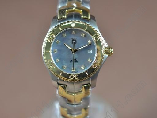 タグホイヤーTag Heuer Link Sports Ladies TT/TT MOP Blue Diam S-Qtzクオーツ腕時計