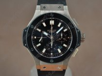 ウブロHublot ig Bang 44mm RG/Ceramic bezel Black dial A-7750自動巻き