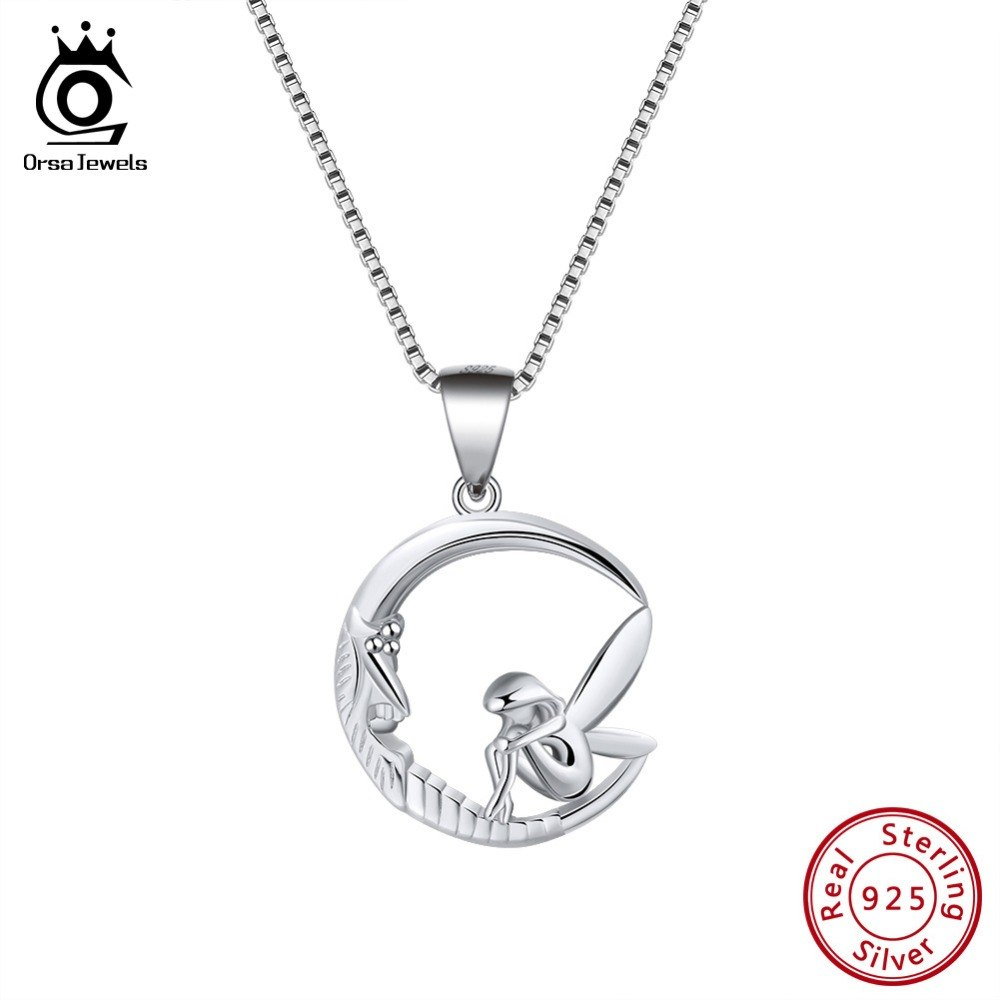 """Precious Metal Without Stones Fine Jewelry Sterling Silver Necklace And """"d"""" Pendent At Any Cost"""