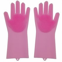 Dishwashing Gloves with Wash Scrubber Magic Silicone Gloves Heat Resistant Reusable Cleaning Gloves for Kitchen,Car, Bathroom and Pet