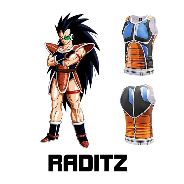 5e9200286f0dd1 Raditz Saiyan Army Battle Suit Armor 3D Skin Tank Top