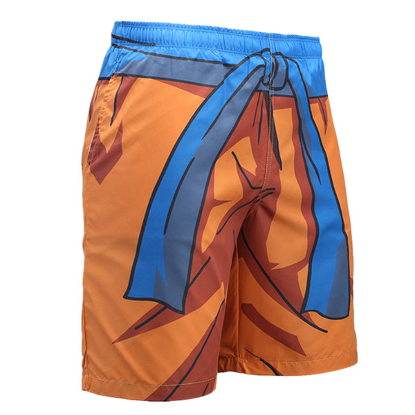 0f37f4d32b161 Quick Dry Goku Funny Cosplay Swim Trunks