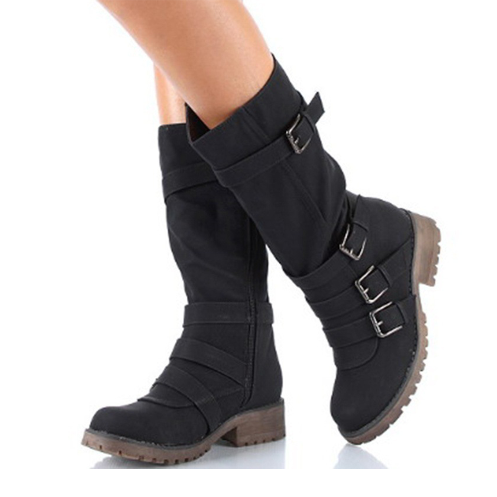 3617e8419dc US  32.89 - Women s Fashion Chunky Ankle Boots mid-Tube Plus Size Casual  Martin Boots - www.youngdemo.com