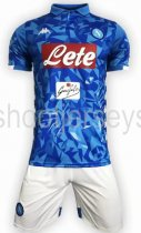 Napoli 18/19 Home Soccer Jersey and Short Kit