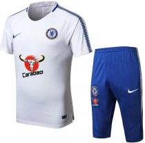 Chelsea 18/19 Training Jersey and Short Kit - White