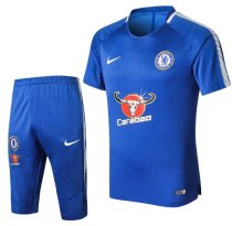 Chelsea 18/19 Training Jersey and Short Kit - Blue