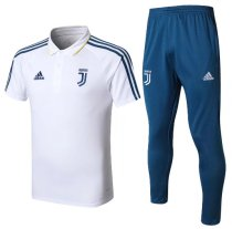 Juventus 18/19 Training Polo and Pants - White