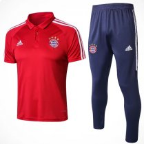 Bayern Munich 18/19 Training Polo and Pants - Red