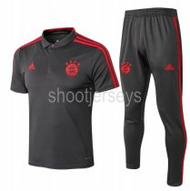 Bayern Munich 18/19 Training Polo and Pants - Grey