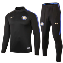 Inter Milan 18/19 Soccer Training Top and Pants - Black
