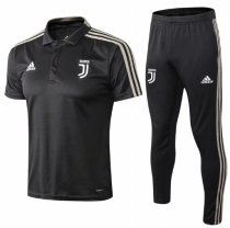 Juventus 19/20 Training Polo and Pants - Black