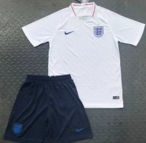 England 2018 Home Soccer Jersey and Short Kit