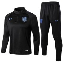 England 2018 Soccer Training Top and Pants - Black