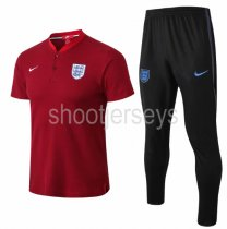 England 2018 Training Polo and Pants - Red