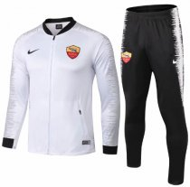 AS Roma 18/19 Jacket and Pants - White