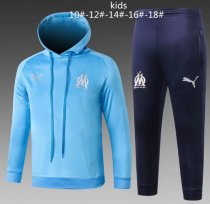 Olympique Marseille 18/19 Kids Hoodie and Pants