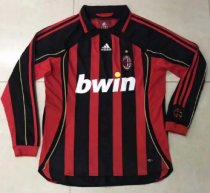 Thai Version AC Milan 2006 Retro LS Home Soccer Jersey