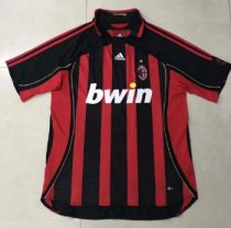 Thai Version AC Milan 2006 Retro Home Soccer Jersey