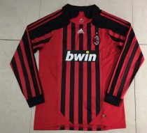 Thai Version AC Milan 2008 Retro LS Home Soccer Jersey